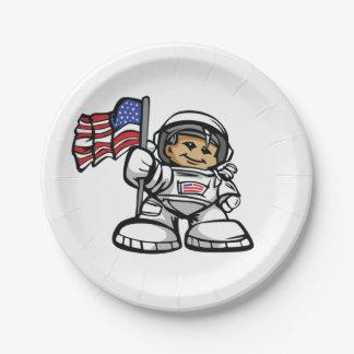 Prato De Papel Astronauta novo no espaço