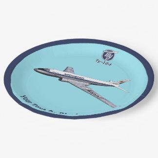 Prato De Papel Avião de passageiros Tu-104 do Tupolev (Туполев)