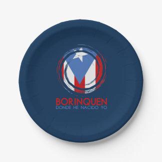 Prato De Papel Azuis marinhos Puerto Rico Borinquen