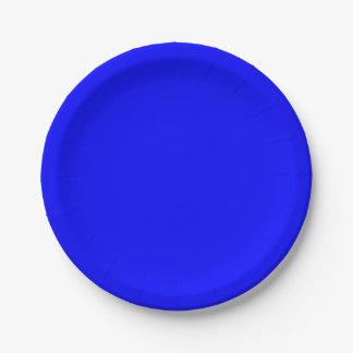 Prato De Papel Azul