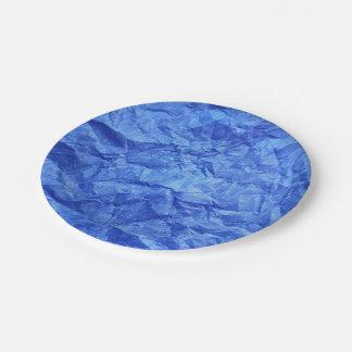 Prato De Papel Azul de índigo