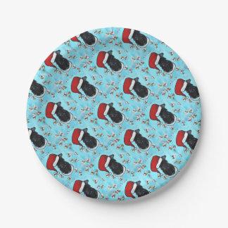 Prato De Papel Azul de Kerry Terrier