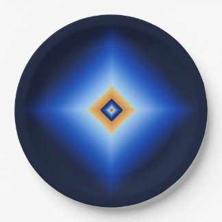 Prato De Papel Azul e diamante de Tan
