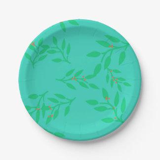 Prato De Papel Bagas e placas de papel das folhas