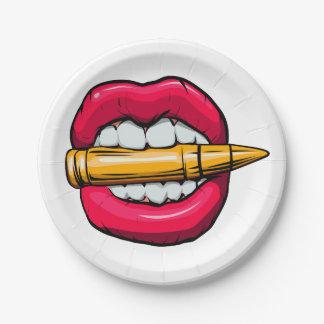 Prato De Papel bala na boca