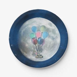 Prato De Papel Balão de ar de Steampunk_Hot