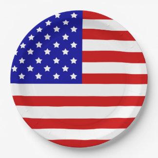 Prato De Papel Bandeira americana patriotismo Dia da