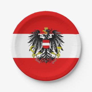 Prato De Papel Bandeira austríaca
