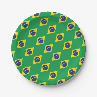 Prato De Papel Bandeira brasileira