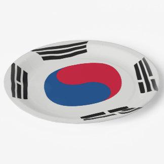Prato De Papel Bandeira coreana sul de Coreia do Sul
