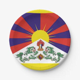 Prato De Papel Bandeira da bandeira do leão de Tibet ou de neve