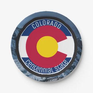 Prato De Papel Bandeira da circular de Colorado