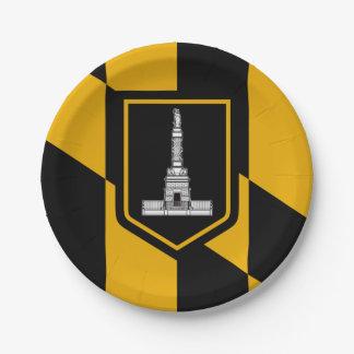 Prato De Papel Bandeira de Baltimore, Maryland