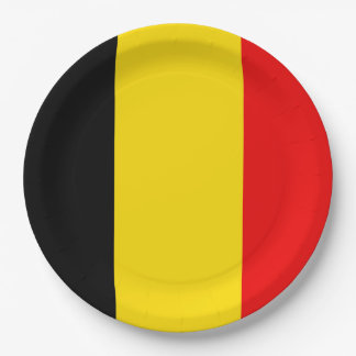 Prato De Papel Bandeira de Bélgica