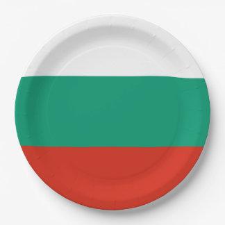 Prato De Papel Bandeira de Bulgária ou de búlgaro