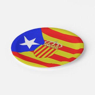 Prato De Papel Bandeira de Catalonia