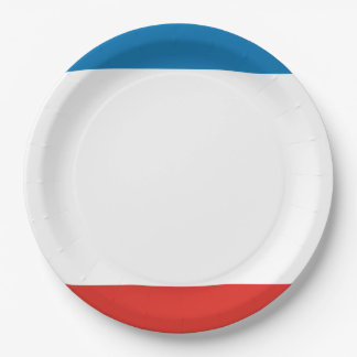 Prato De Papel Bandeira de Crimeia