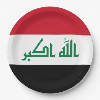 Prato De Papel Bandeira de Iraque