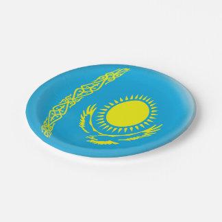 Prato De Papel Bandeira de Kazakhstan Kazakhstani
