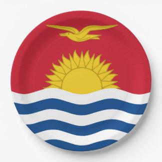 Prato De Papel Bandeira de Kiribati
