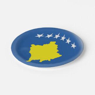Prato De Papel Bandeira de Kosovo Kosovan
