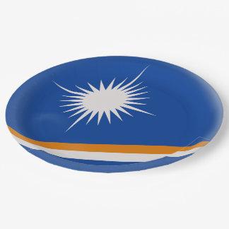 Prato De Papel Bandeira de Marshall Islands