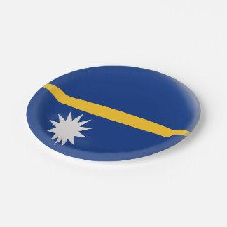 Prato De Papel Bandeira de Nauru