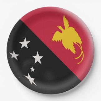 Prato De Papel Bandeira de Papuá-Nova Guiné