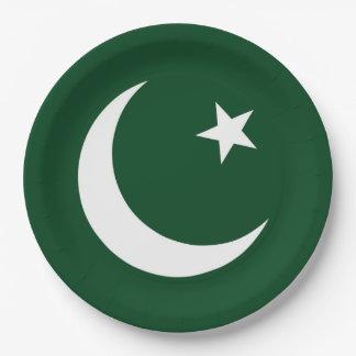 Prato De Papel Bandeira de Paquistão