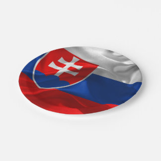 Prato De Papel Bandeira de Slovakia