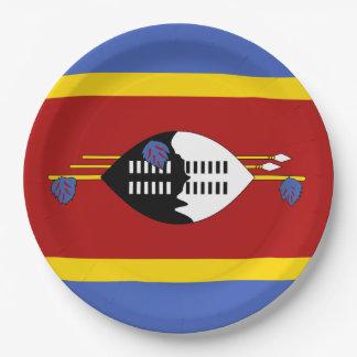 Prato De Papel Bandeira de Suazilândia