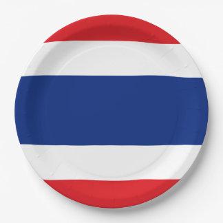 Prato De Papel Bandeira de Tailândia