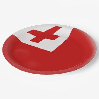 Prato De Papel Bandeira de Tonga Tonganês