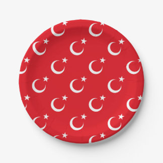 Prato De Papel Bandeira de Turquia