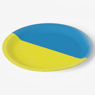 Prato De Papel Bandeira de Ucrânia Ukrainean Ukraini