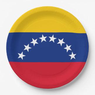 Prato De Papel Bandeira de Venezuela