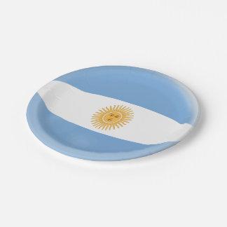 Prato De Papel Bandeira do argentino de Argentina