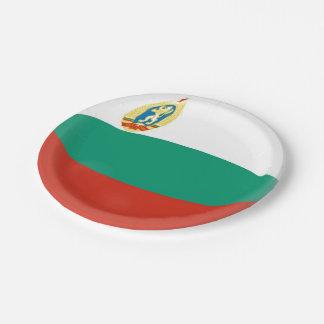 Prato De Papel Bandeira do búlgaro de Bulgária