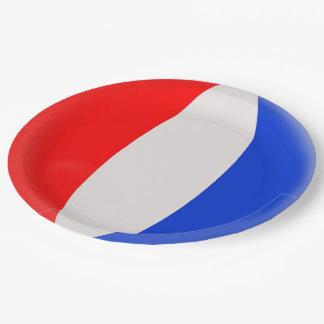 Prato De Papel Bandeira do francês de France