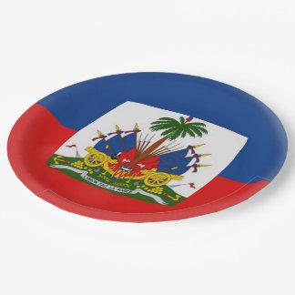 Prato De Papel Bandeira do Haitian de Haiti