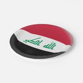 Prato De Papel Bandeira do iraquiano de Iraque