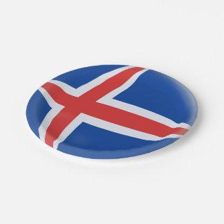 Prato De Papel Bandeira do islandês de Islândia
