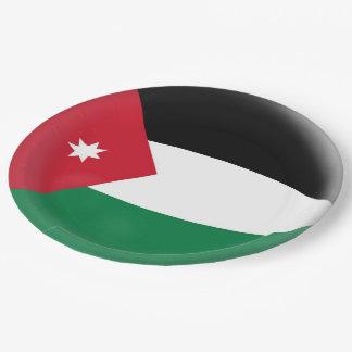 Prato De Papel Bandeira do jordano de Jordão