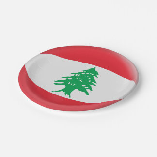 Prato De Papel Bandeira do libanês de Líbano
