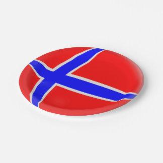 Prato De Papel Bandeira do norueguês de Noruega