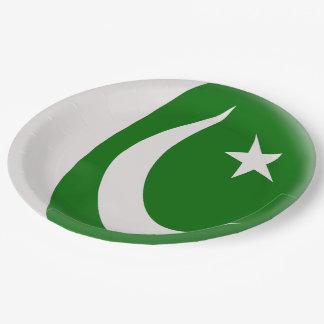 Prato De Papel Bandeira do paquistanês de Paquistão