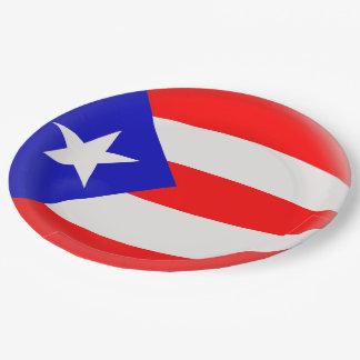 Prato De Papel Bandeira do porto-riquenho de Puerto Rico