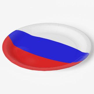 Prato De Papel Bandeira do russo de Rússia
