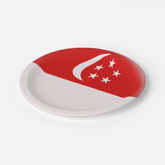 Prato De Papel Bandeira do singapurense de Singapore Singapura
