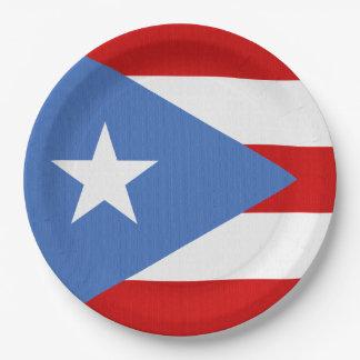 Prato De Papel Bandeira do tema de Puerto Rico